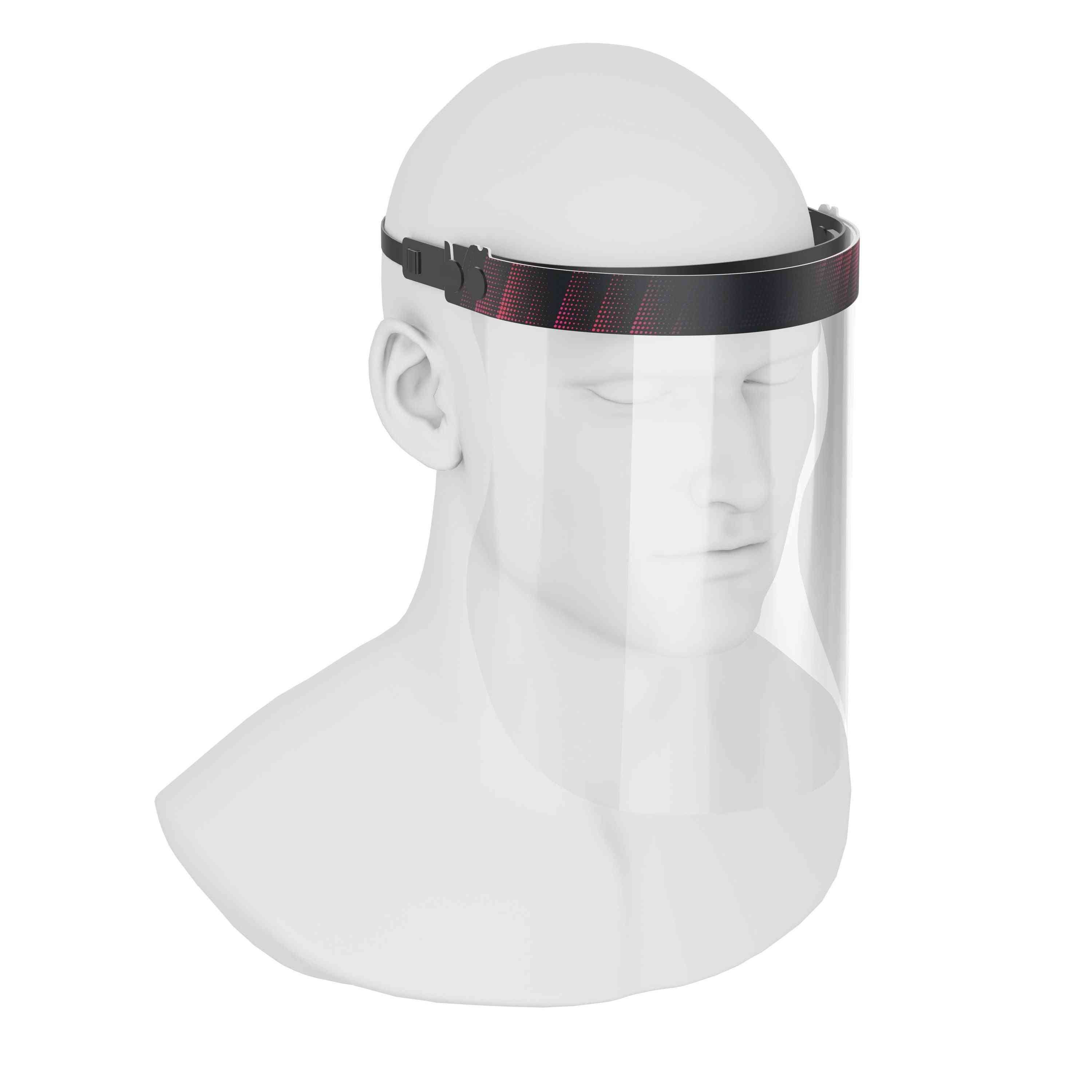 Isolay Face Shield Black & Red