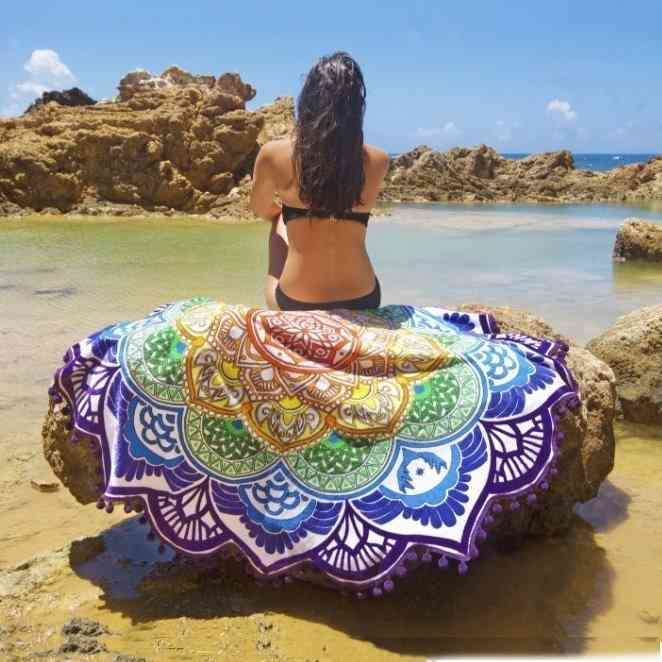 Multi-function Mandala Beach Towel