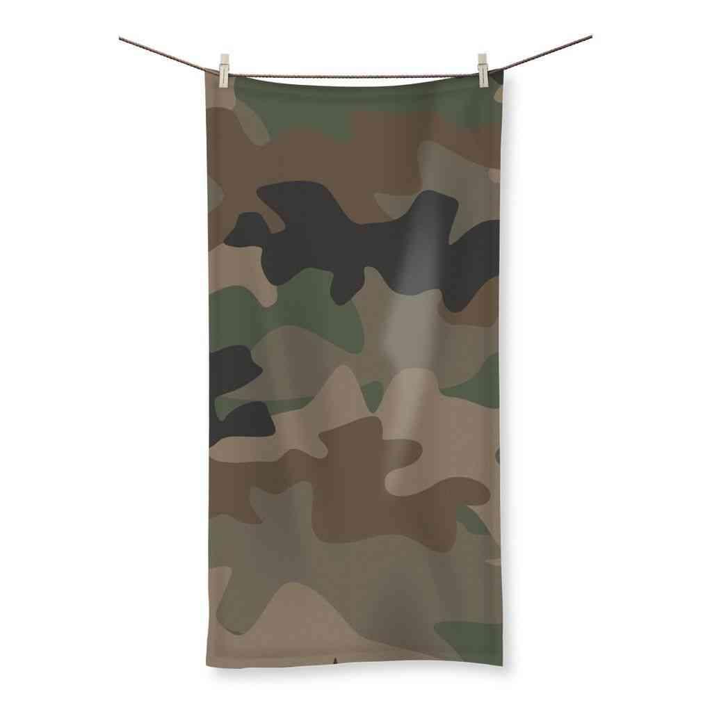 Camofludge Print, Beach Towel