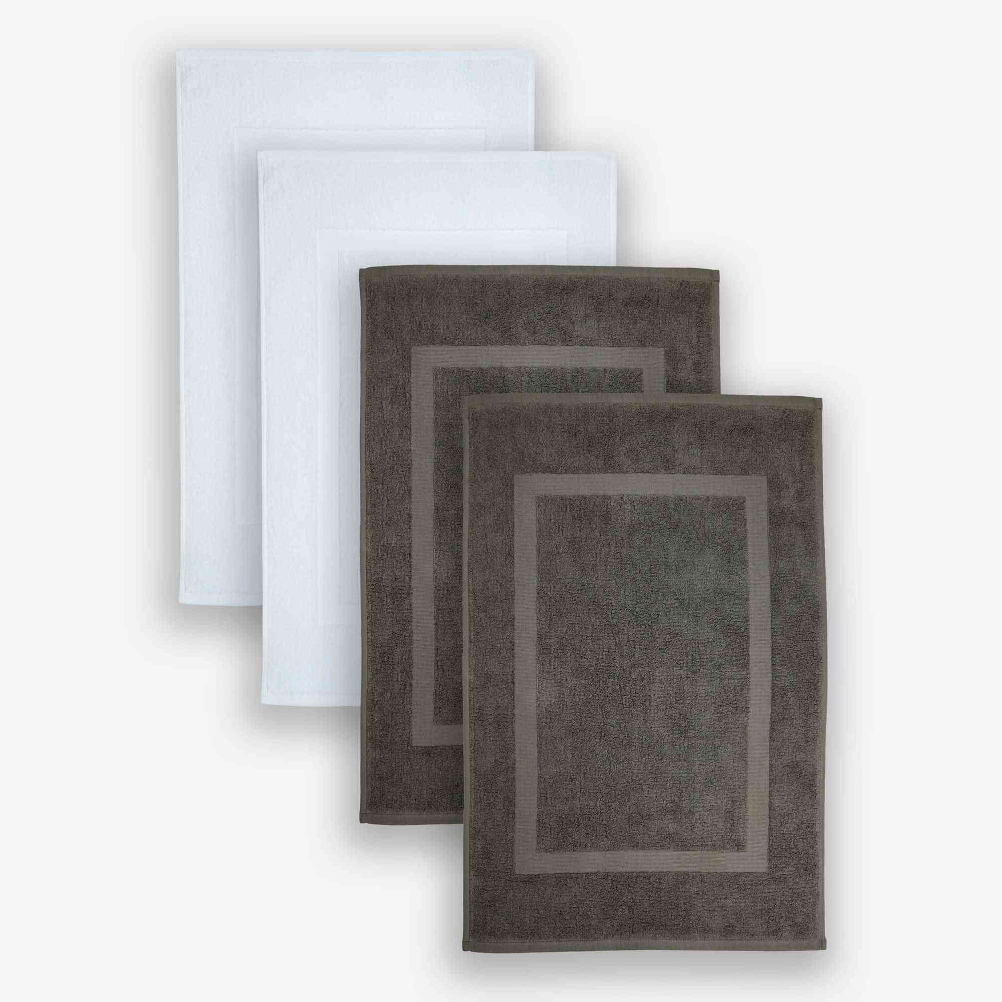 100% Cotton, Set Of 4 Bath Floormat, Terry Floormat, 20