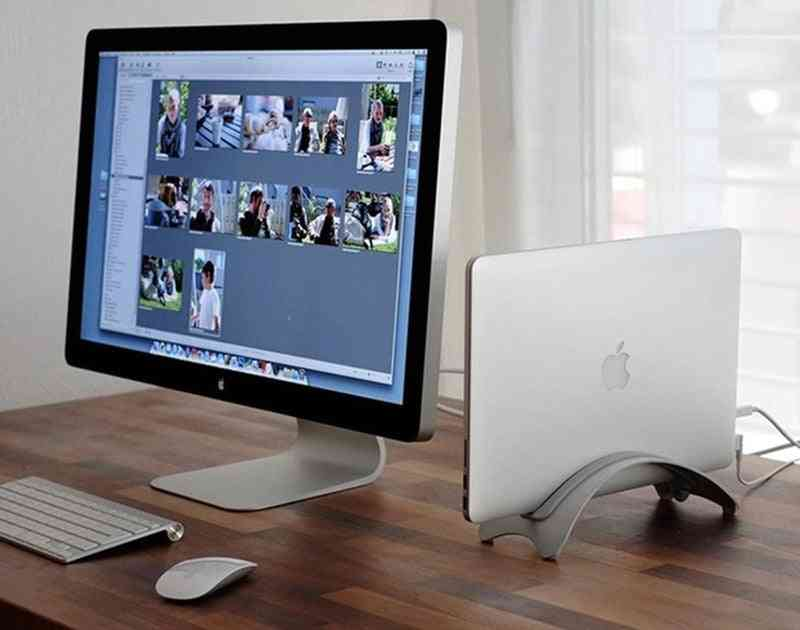 Aluminium Arced Macbook Desk Stand