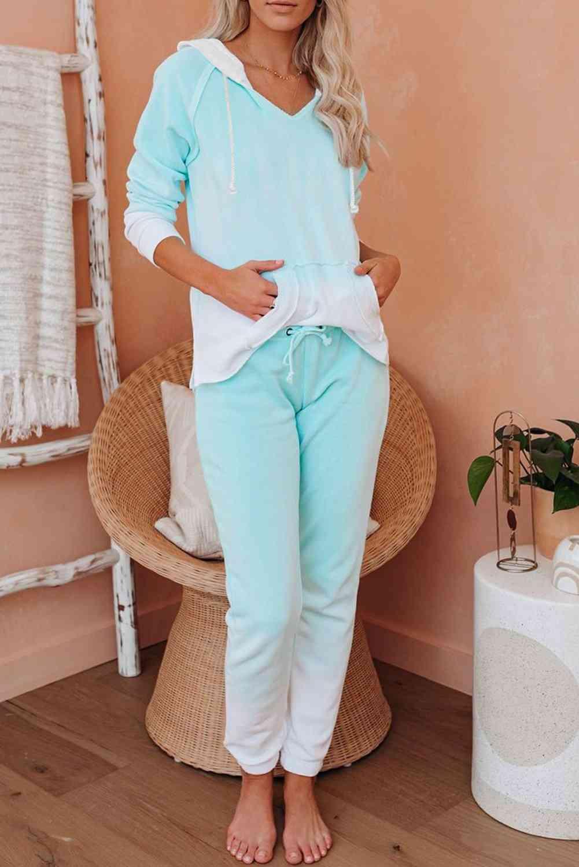 Cotton Blend Tie Dye Hoodie, Joggers Loungewear