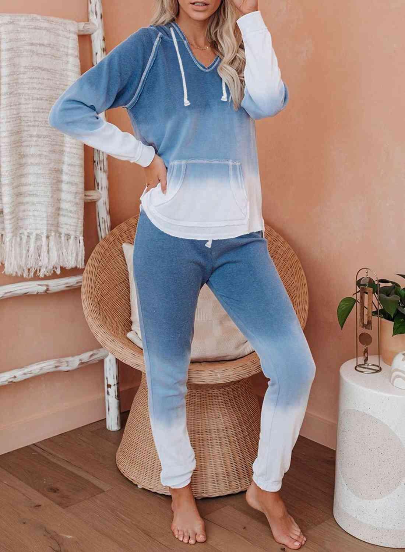 Cotton Blend, Tie Dye Hoodie, Joggers Loungewear