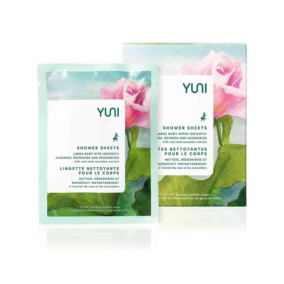 Rose Cucumber Shower Sheets