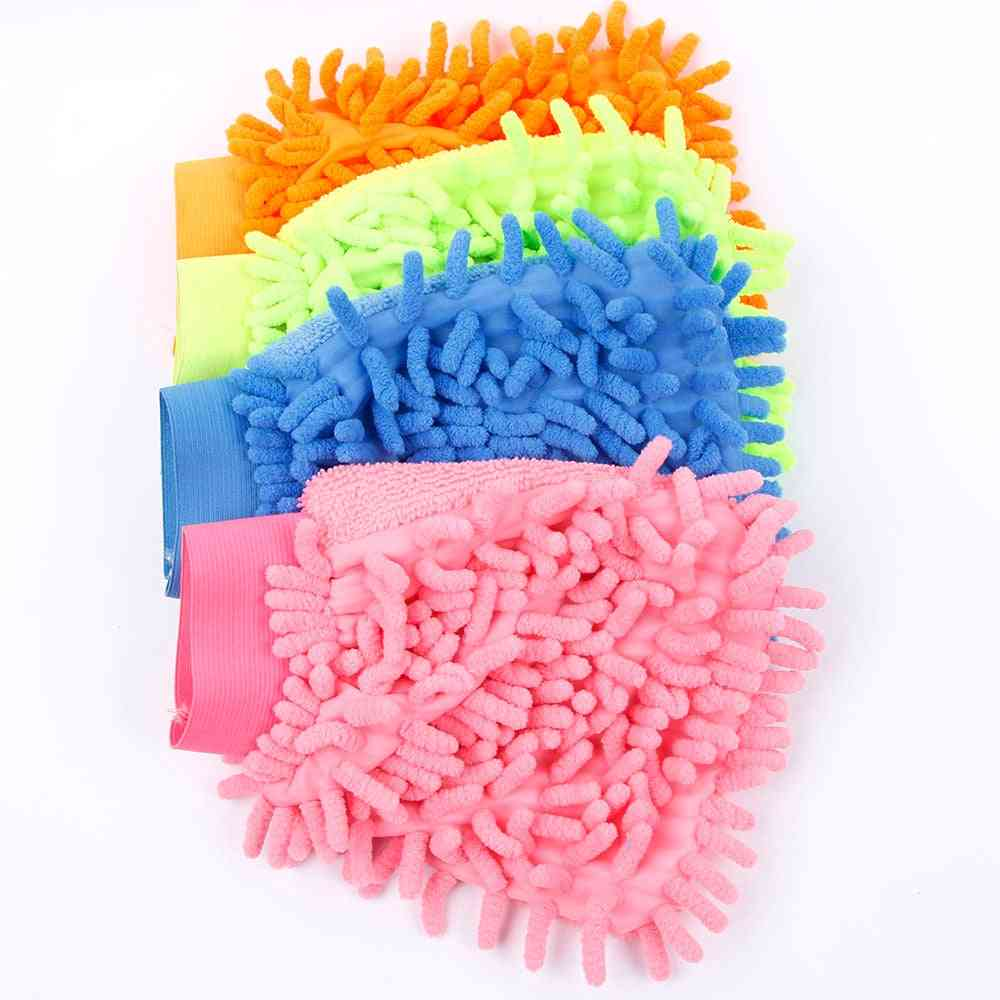 Multifunction Microfiber Home Cleaning Cloth Duster Towel Gloves