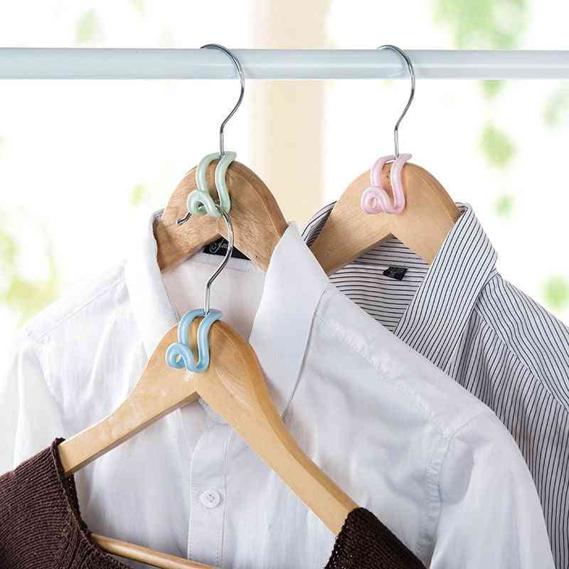 Creative Mini Anti Slip Clothes Hanger Home Easy Hook Closet Storage Rack Holder Hook