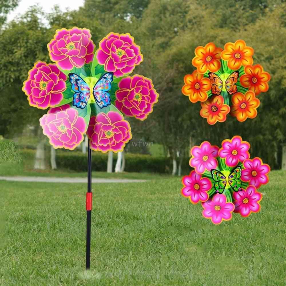 Flower Windmill Wind Spinner Pinwheels Home Garden Yard Decoration Kids