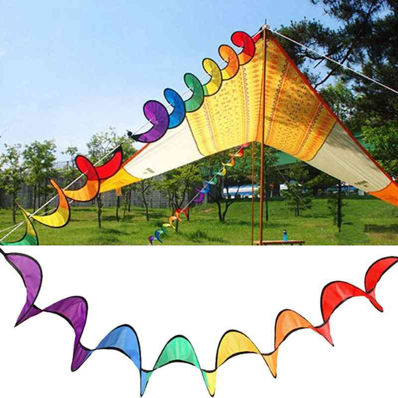Foldable Rainbow Spiral Windmill Tent Spinner