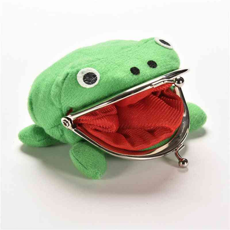 Frog Shape Cosplay  Soft Furry Coin Purse Wallet