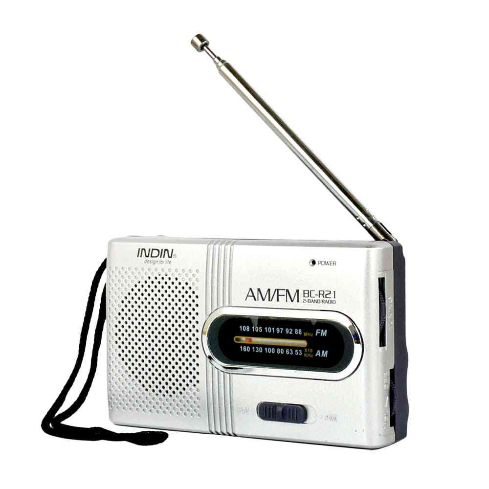 Wireless Mini Radio, Am, Fm Receiver, Telescopic Antenna, Mini Portable Pocket Speaker, Mp3 Music Outdoor, Rechargeable Battery Player
