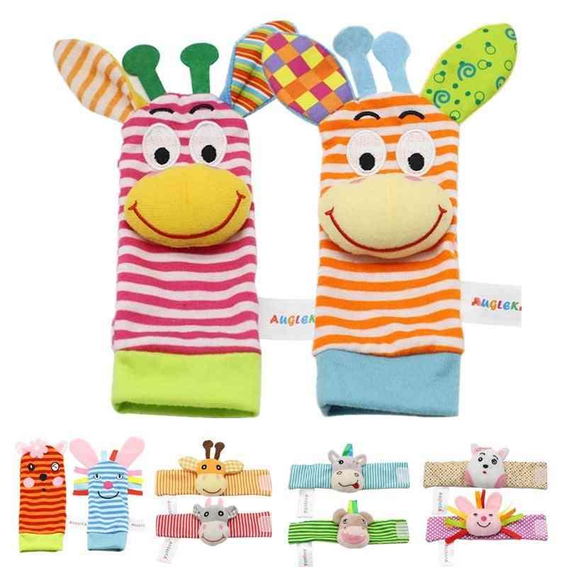 Infant Baby Kids Rattle Garden Bug Wrist Rattle And Foot Socks