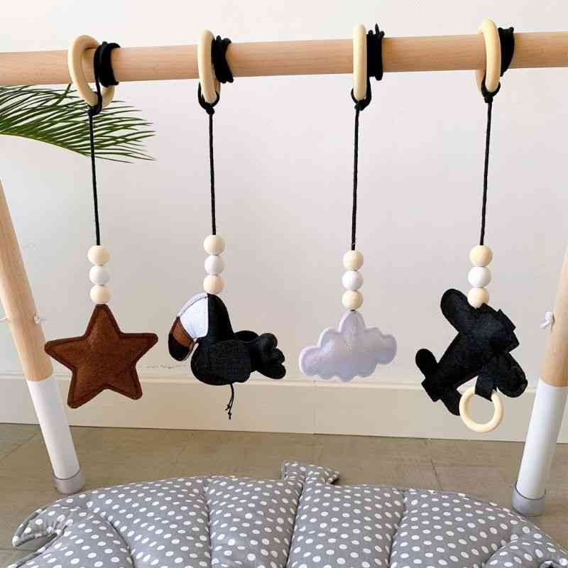 Solid Wood Fitness Rack Pendant Room Decoration Infants Baby Gym Toy