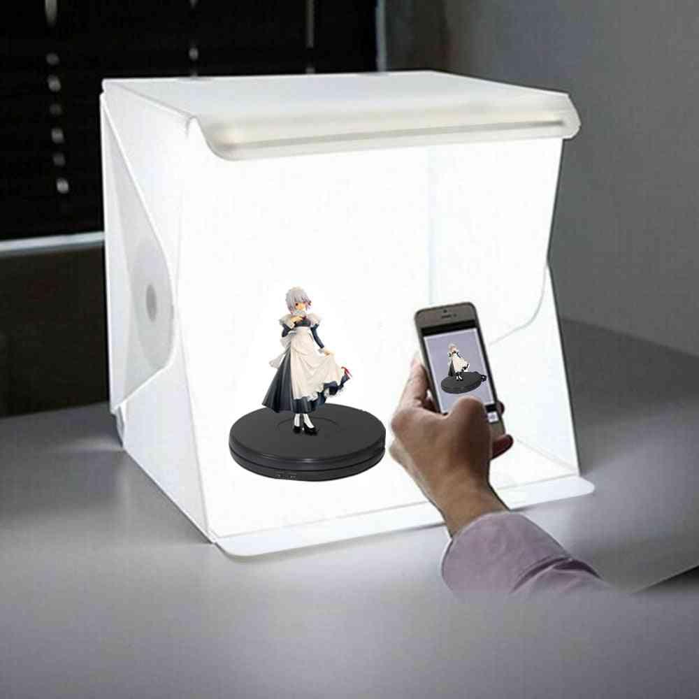 Led Folding Photo Background Lightbox Softbox With Photography Lamp