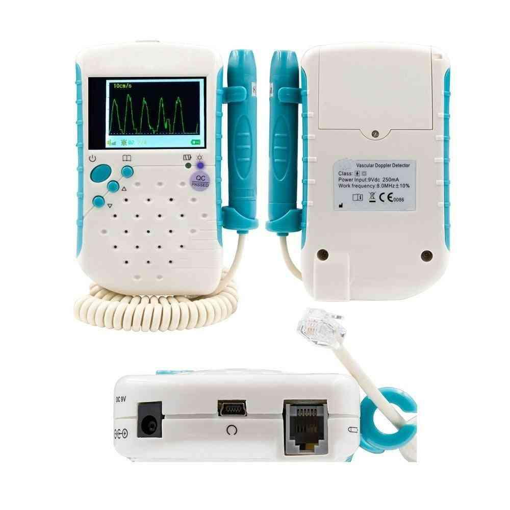Lcd Screen Handheld Vascular Doppler /doppler Vascular /abi Machine/blood Flow Rate Detector