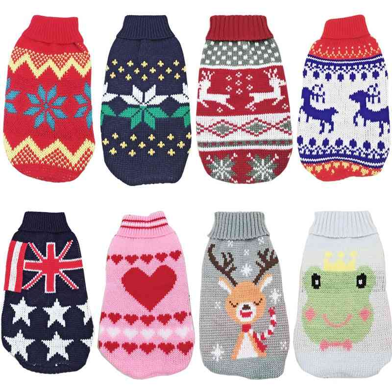 Christmas Cat/dog Sweater Pullover Winter Clothes