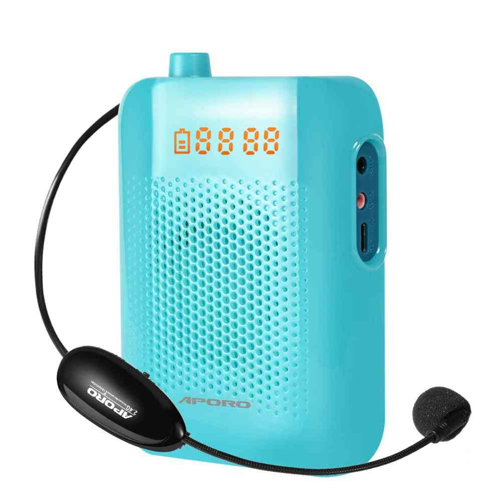 2.4g Wireless Voice Amplifier Bluetooth 5.0 Megaphone For Teaching Promotion Headset Microphone