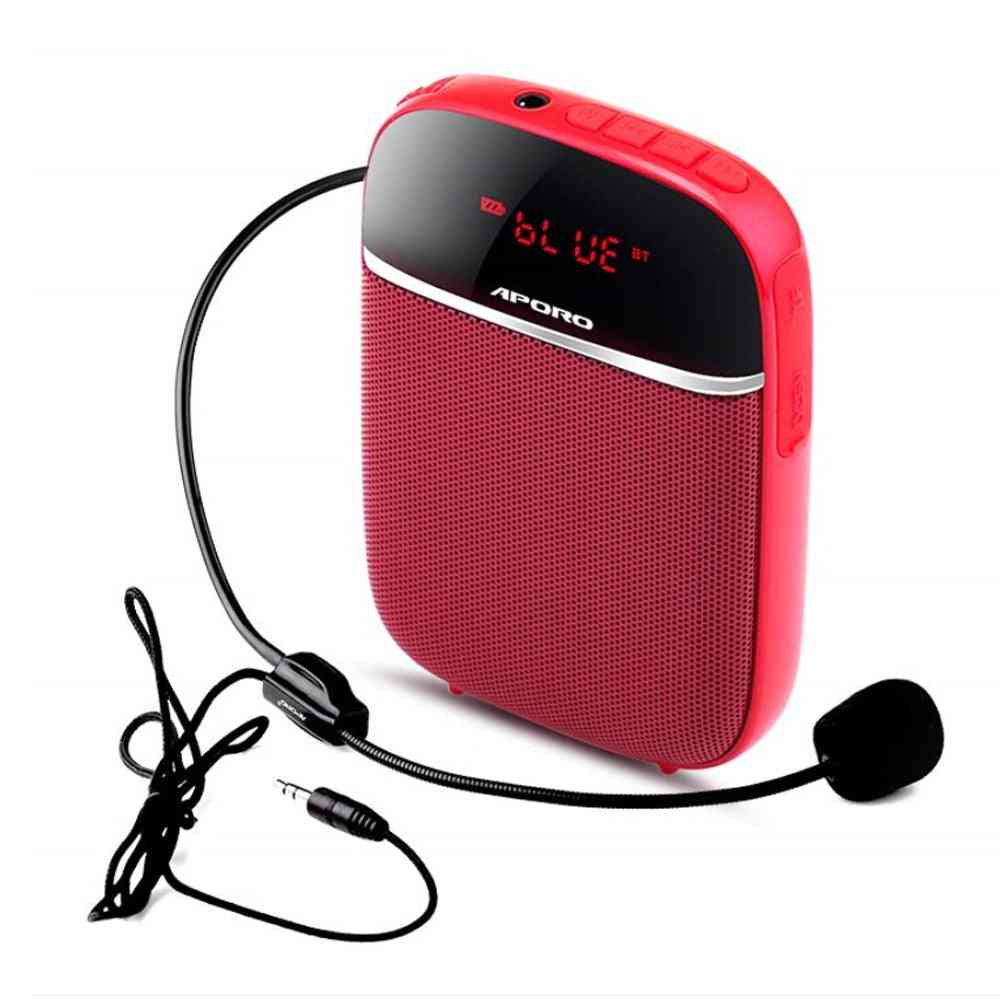 Portable 10w Voice Amplifier Wired Microphone Headset With Sound-amplifying Speaker