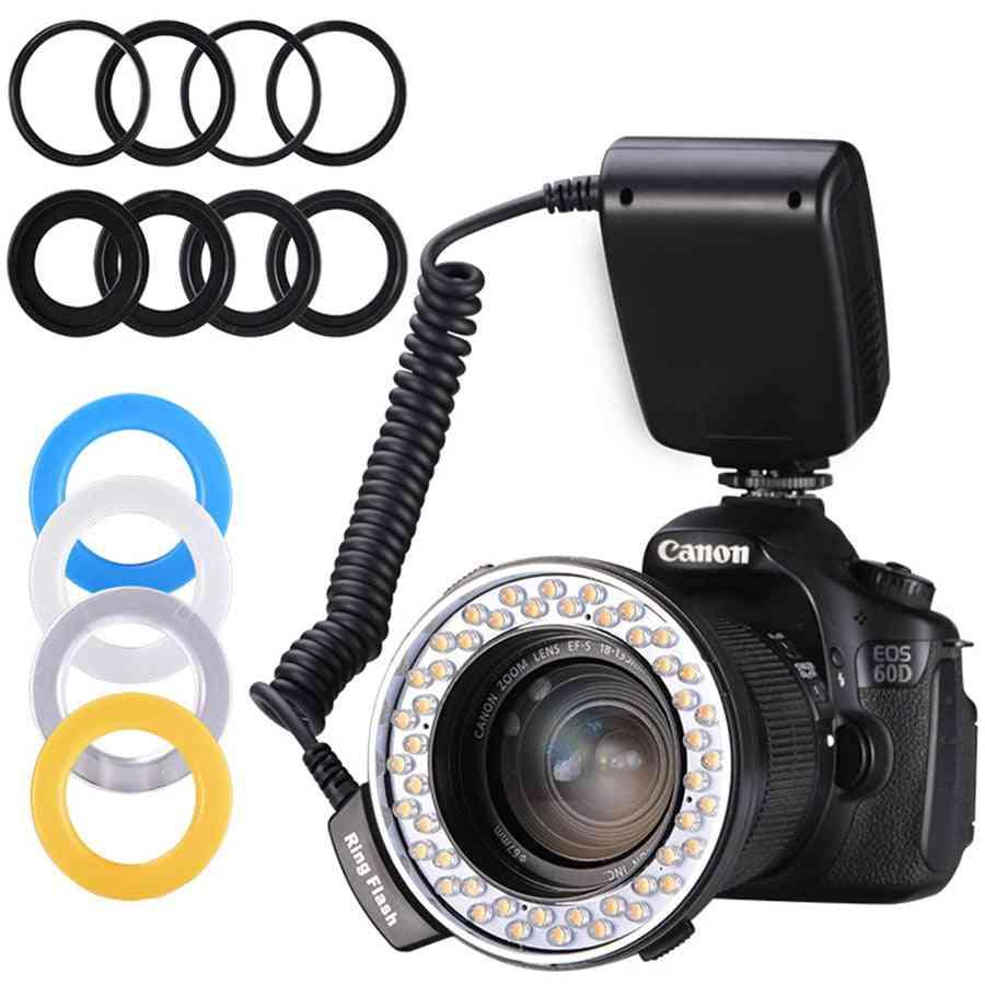 Led Ring Flashlight Lamp For Sony Canon Nikon Dslr Camera (rf-550d)