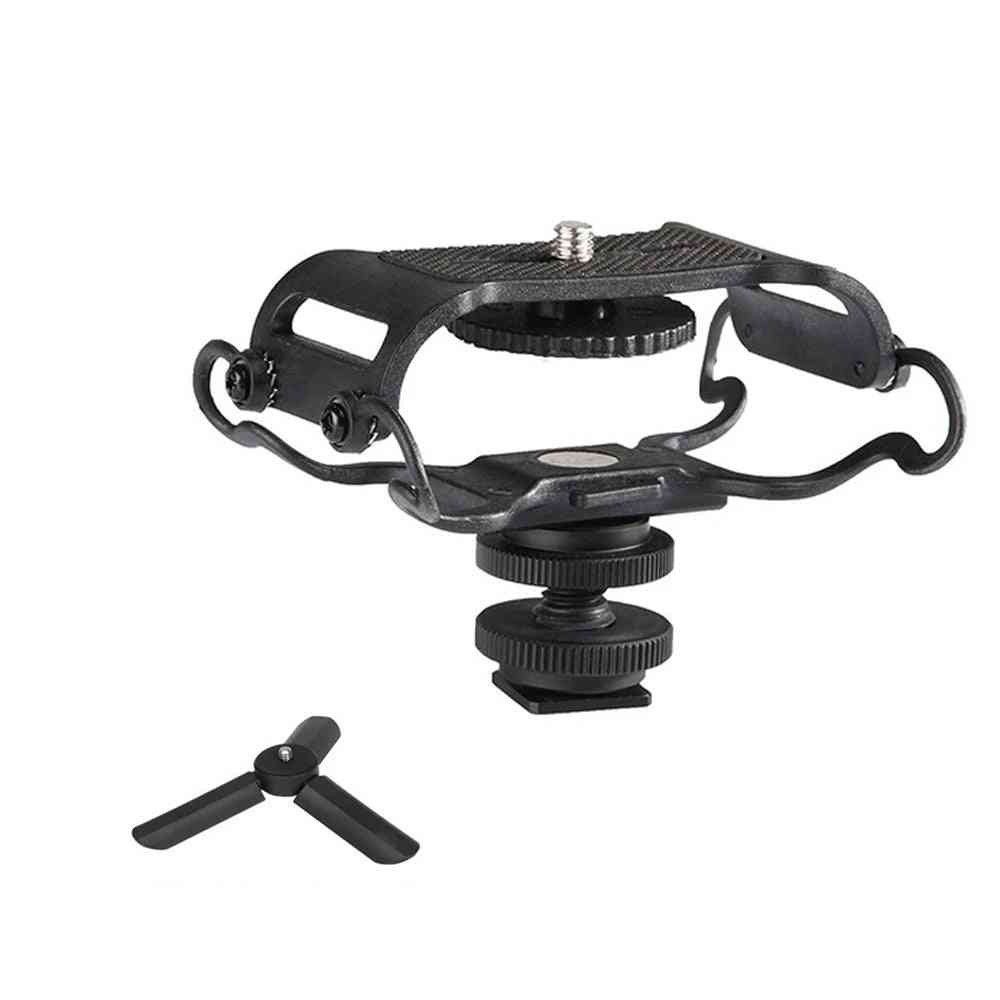 Microphone Shock Mount For Zoom H4n/h5/h6 Sony Tascam Dr-40 Dr-05 Recorders Olympus Tascam