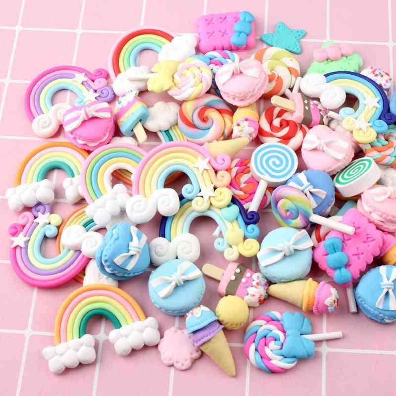 Mix Candy Lollipop Polymer Clay Figurines For Craft Phone Arts