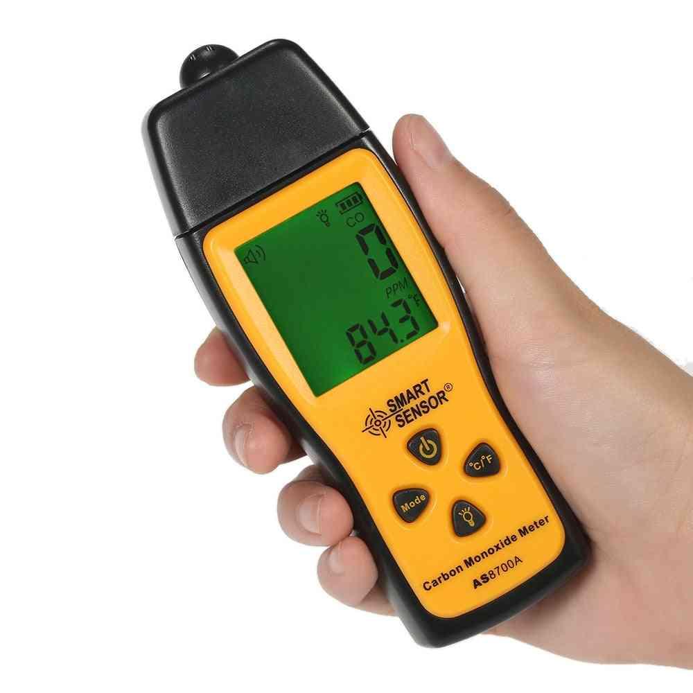 Handheld Carbon Monoxide Meter, Co Gas Tester Monitor Detector Gauge, Lcd Display, Sound And Light Alarm