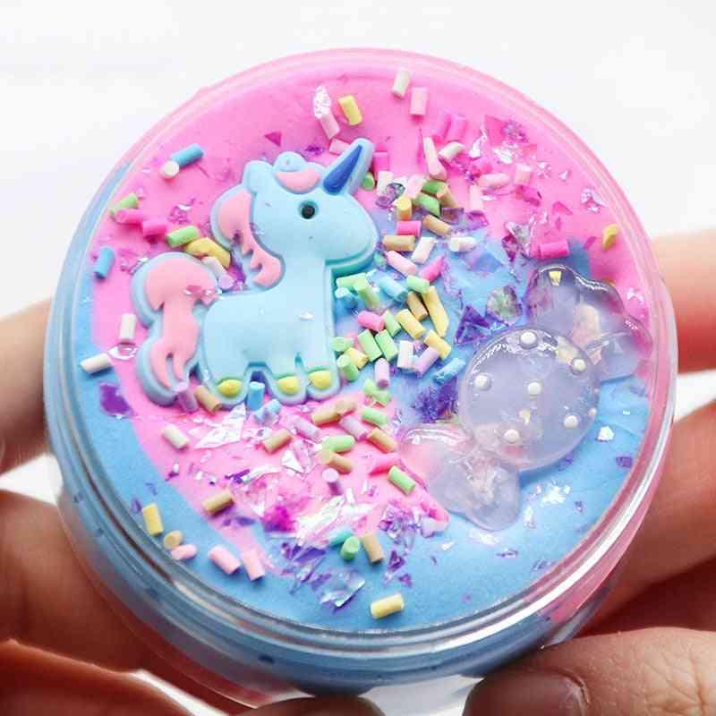 Unicorn Puff Slime Plastic Clay