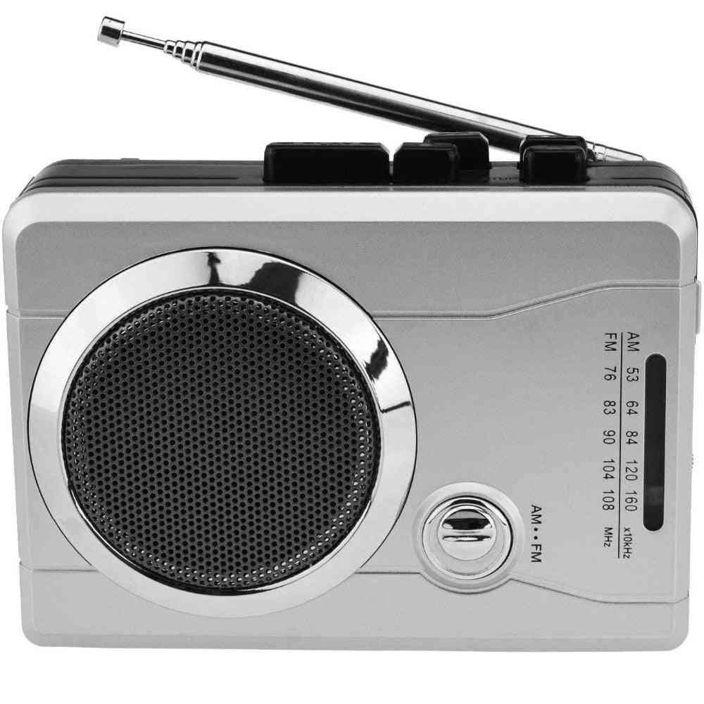 Am/fm Pocket Radio Cassette Player, Portable Personal Voice Audio