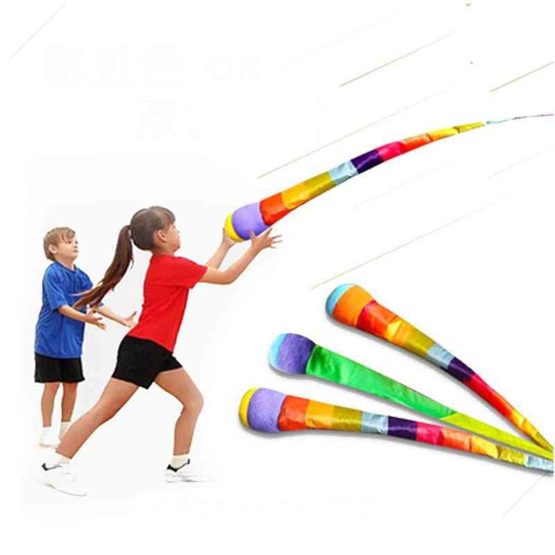Hand Throwing Ribbon Rainbow Ball (1-pcs Color Random)