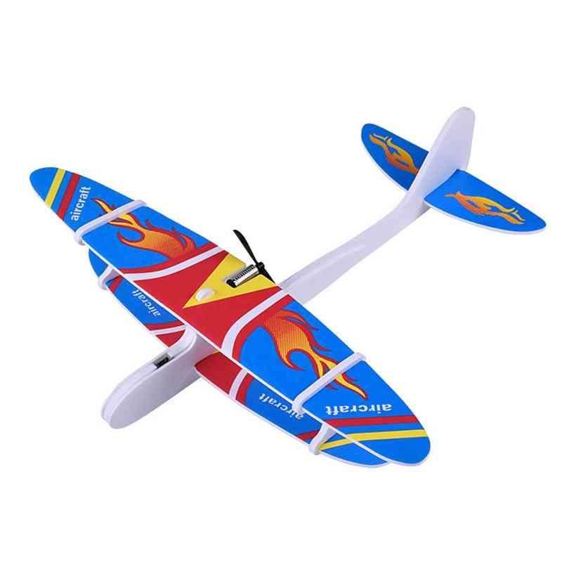 Kids Assembled Aircraft Fix Wing Usb Durable Epp Foam Outdoor Launch Airplane Model