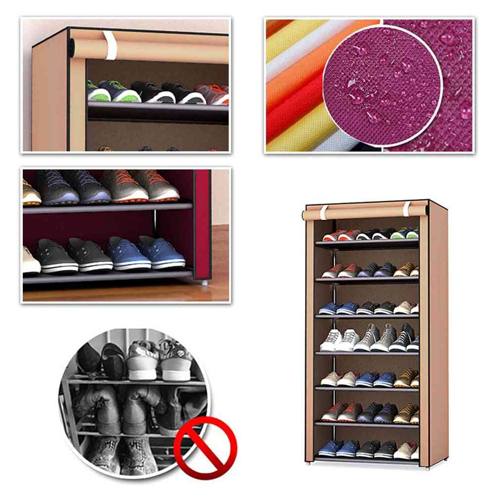 Shoe Rack With Dust-proof Cloth