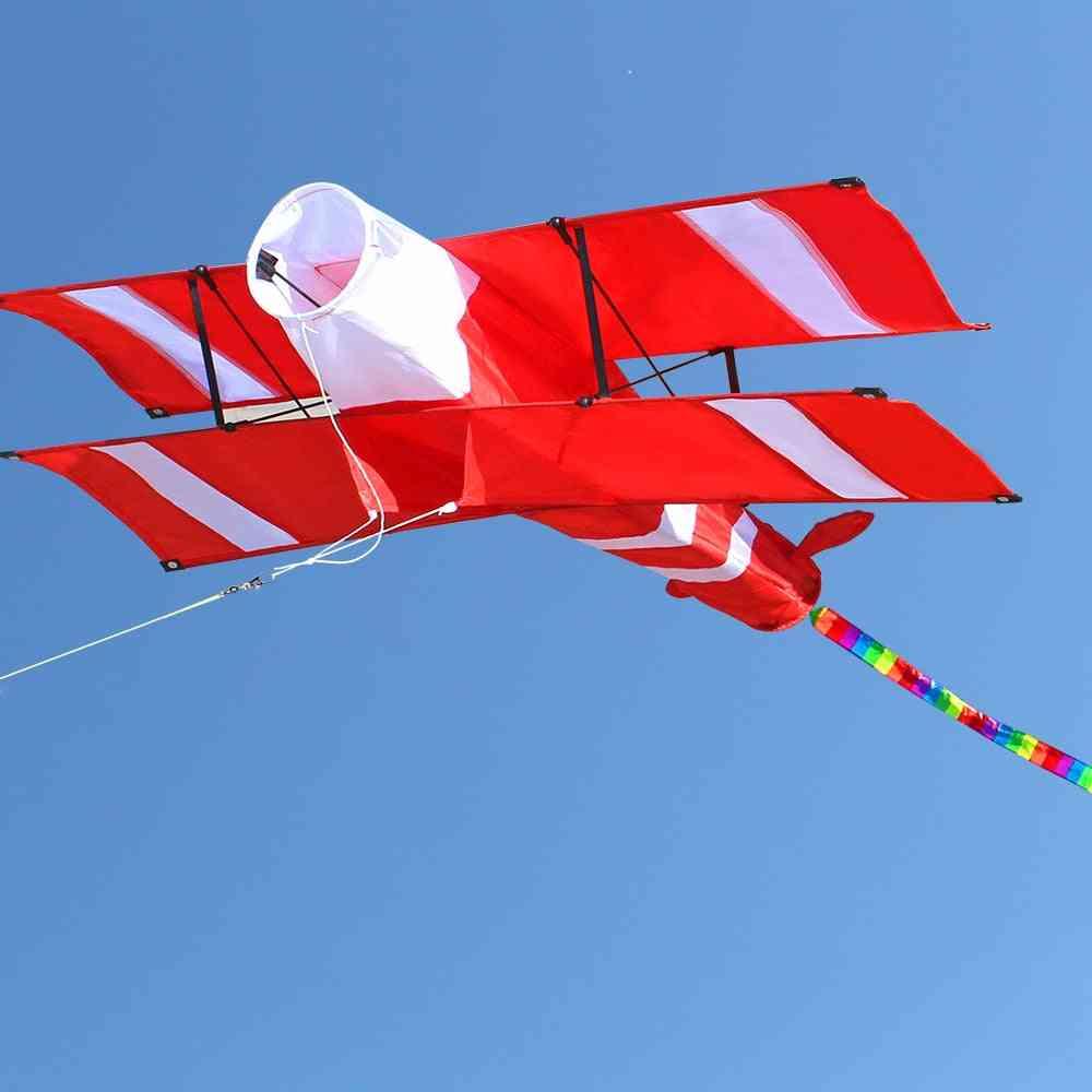 3d Single Line Red Plane  Kite