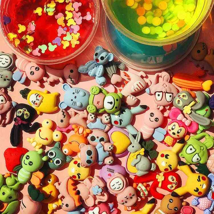Cartoons Charms For Slime Supplies Polymer Clay Decor