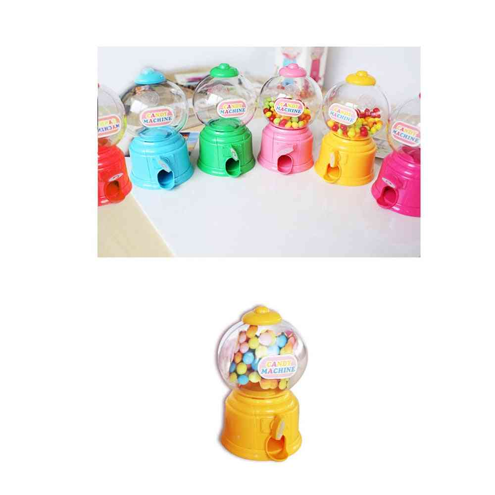 Mini Candy Machine Bubble Gumball Dispenser Coin Bank Kids Play House Cute Sweets Save Money Birthday New Year
