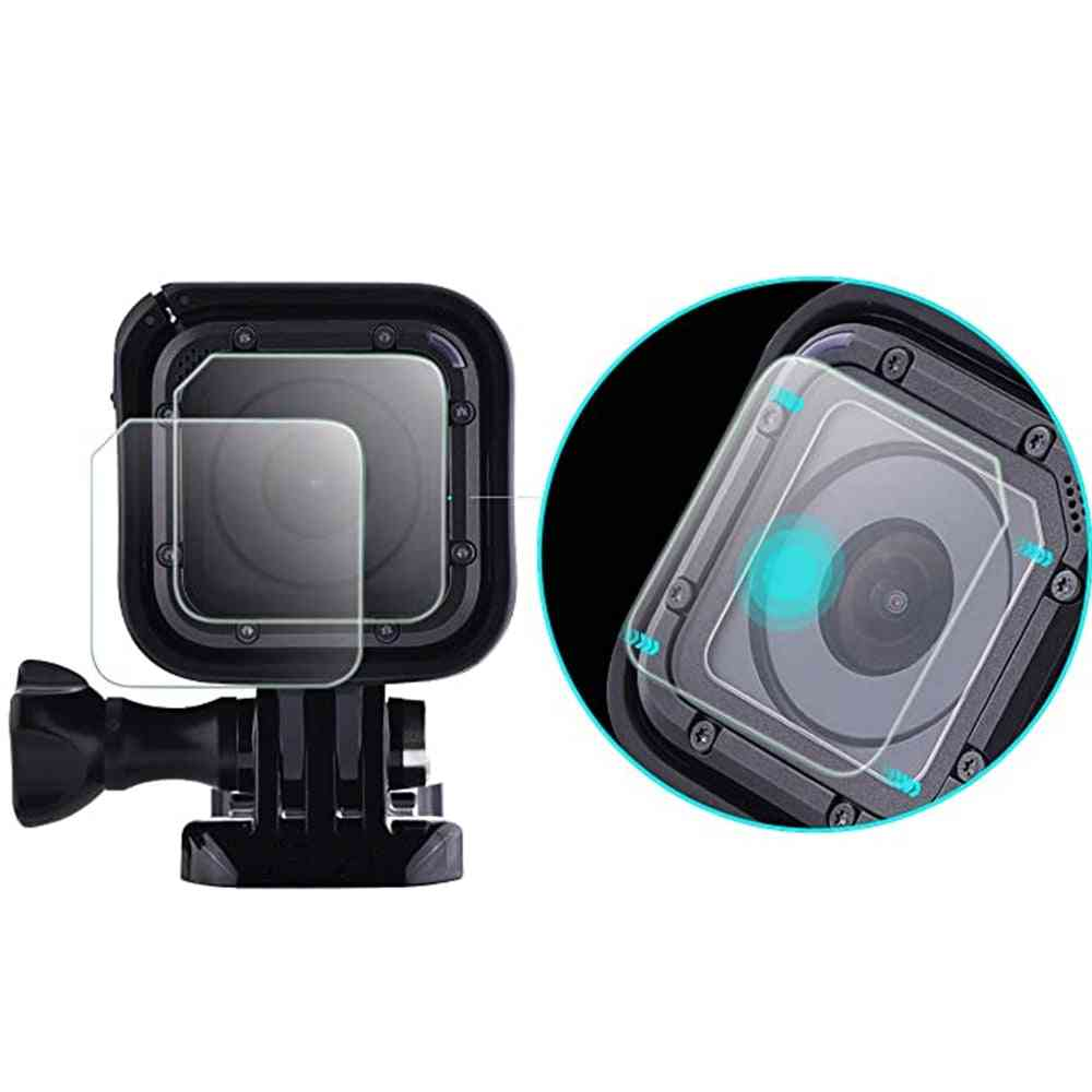 New Camera Tempered Glass Lens With Screen Protector Film For Gopro Hero