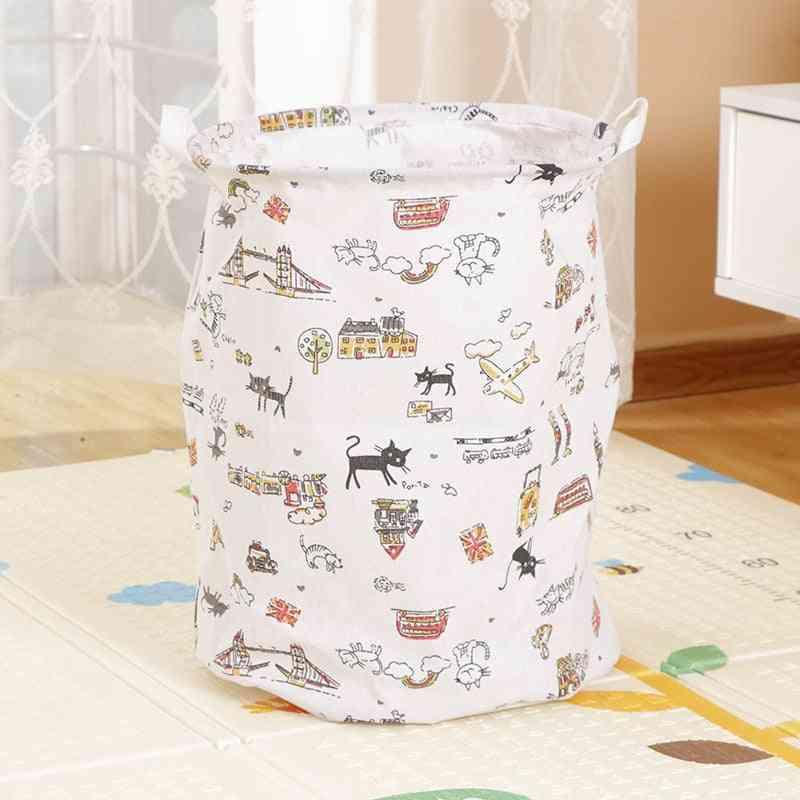 Foldable Storage Basket Laundry Basket Kids Toy