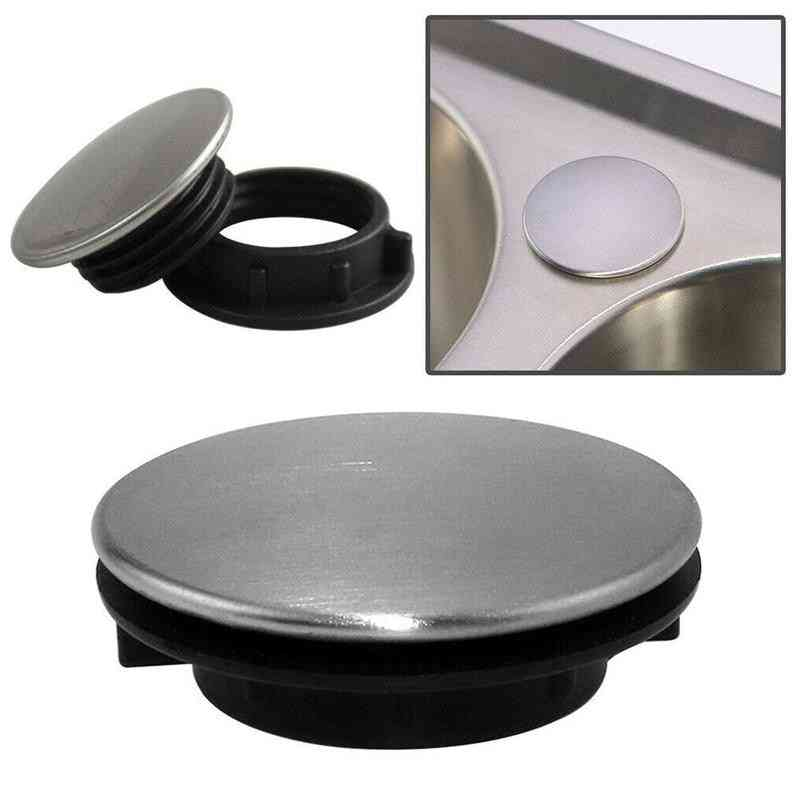 Stainless Steel Sink Water Stopper Cover, Soap Dispenser Hole, Faucet Hole Plug, Washbasin, Anti-leakage Kitchen Plug