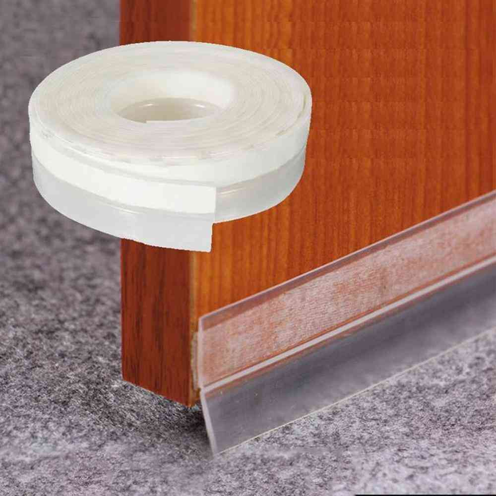 Silicone Self-adhesive Weather Stripping Under Door Window Seal Strip Noise Draft Stopper Seal