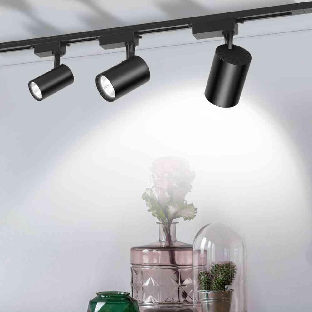 Led Cob Track Lights, Rail Spotlight, Aluminum Lamp For Fixture Shop, Window Display
