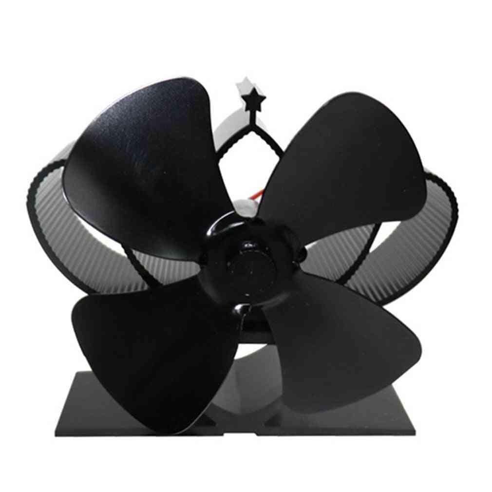 Fireplace 4 Blade Thermal Heat Powered Pellet Stove Fan
