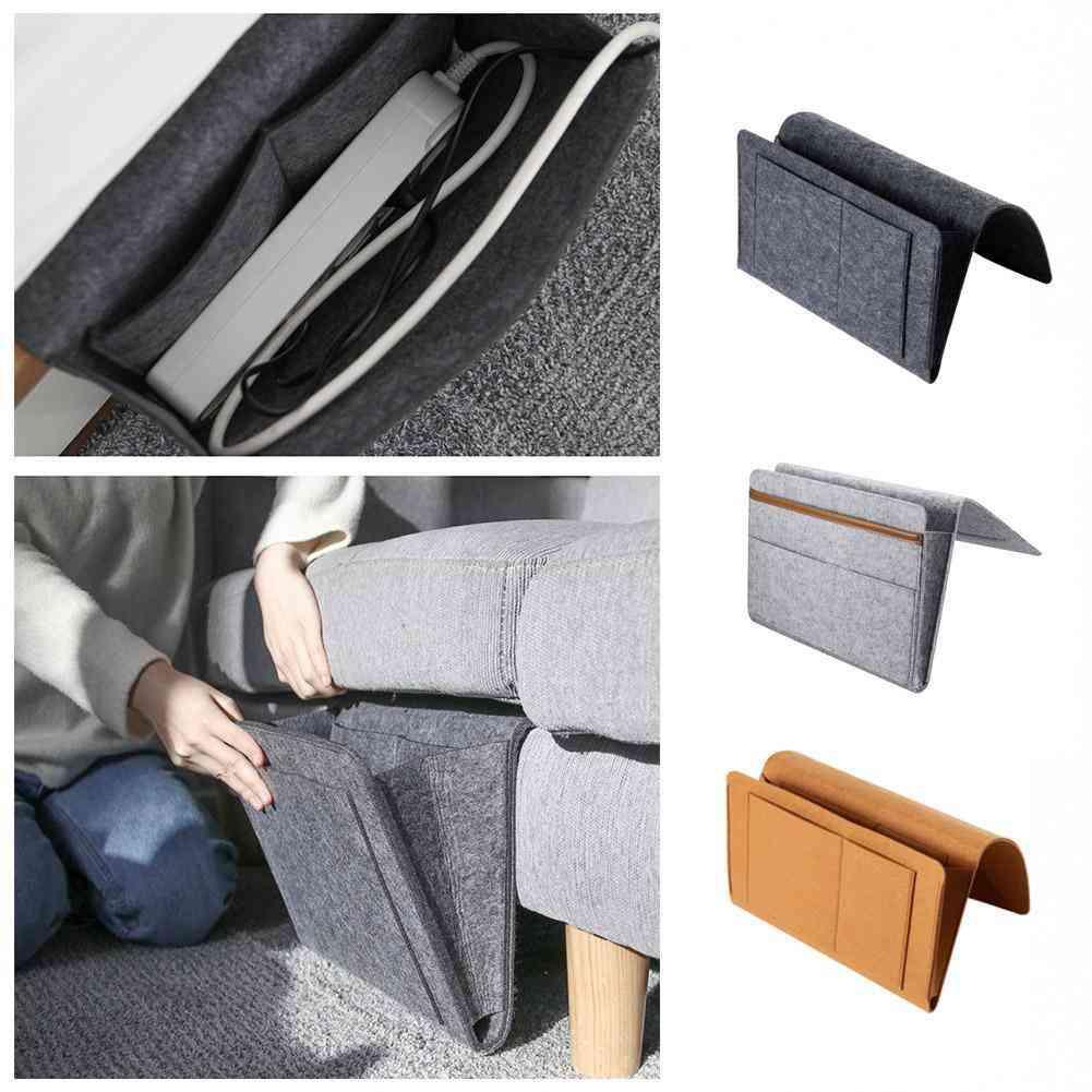 Sundries Control Mobile Pocket Felt Bedside Hanging Storage Bag
