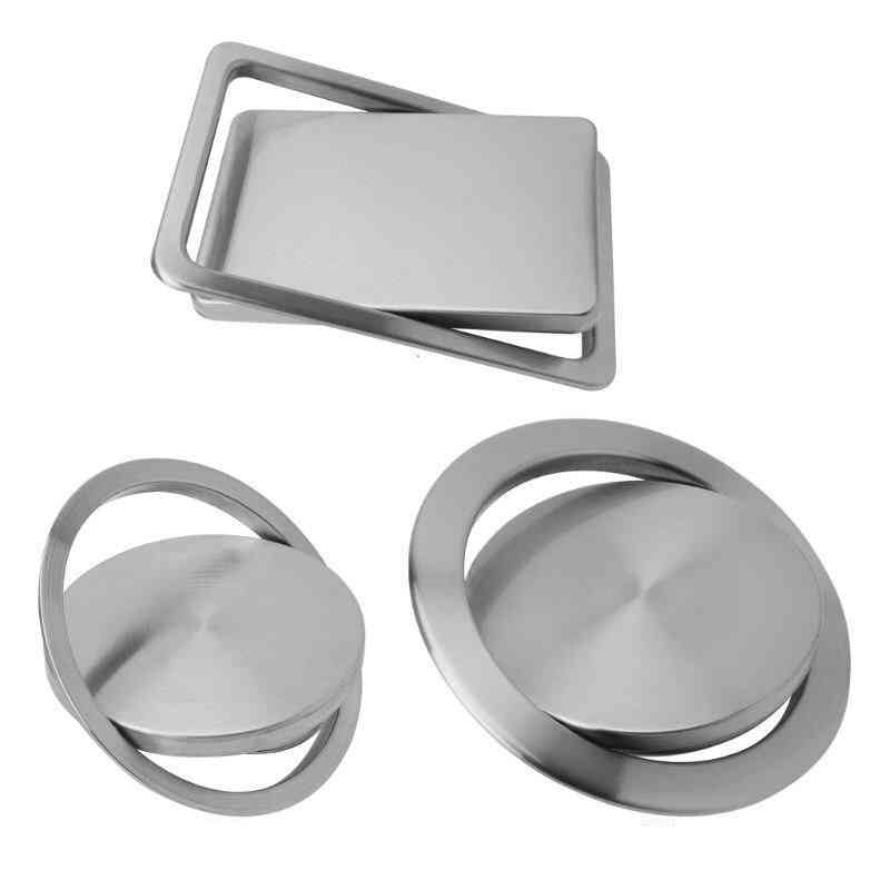Stainless Steel Trash Bin Counter Top Cover