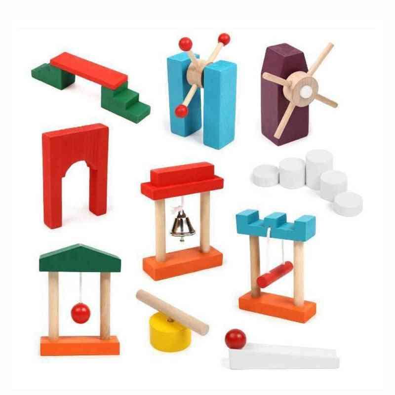 Kids Wooden Institution Accessories Rainbow Dominos Block