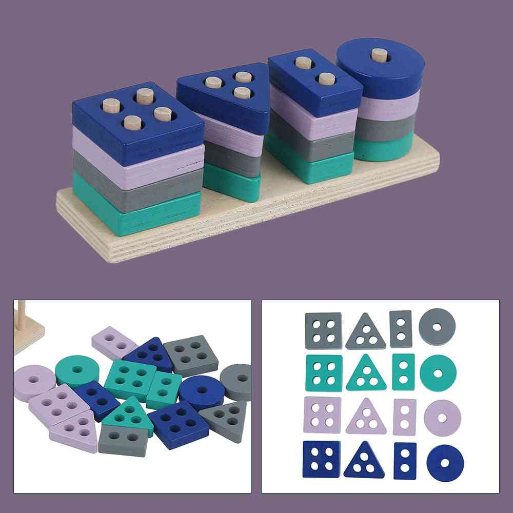Wooden Early Learning Educational Montessori Building Block