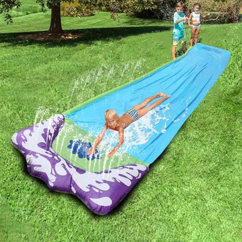 Backyard Outdoor Giant Surf Fun Lawn Water Slides Pool