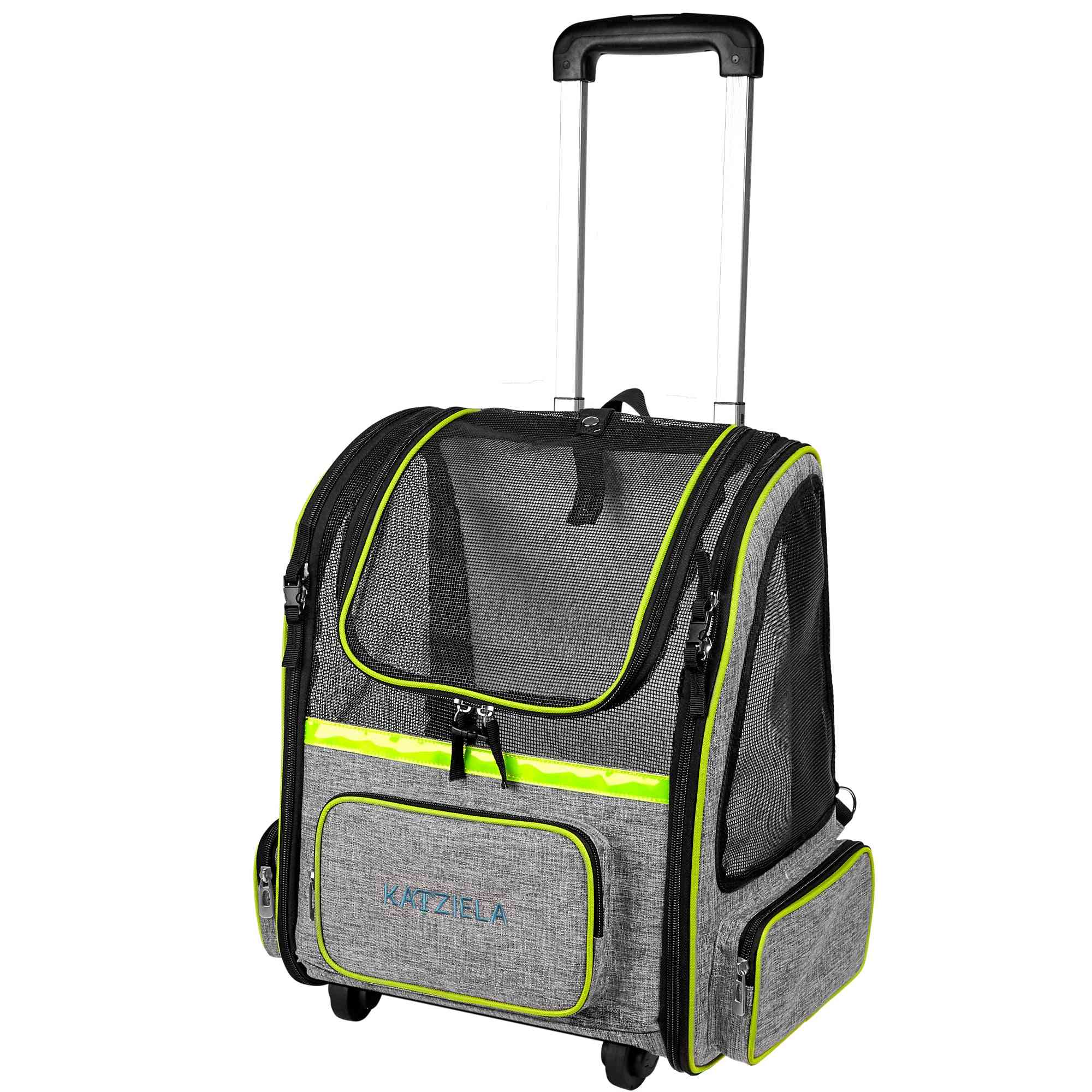 Dual Rolling/backpack Carrier With Telescopic Handle