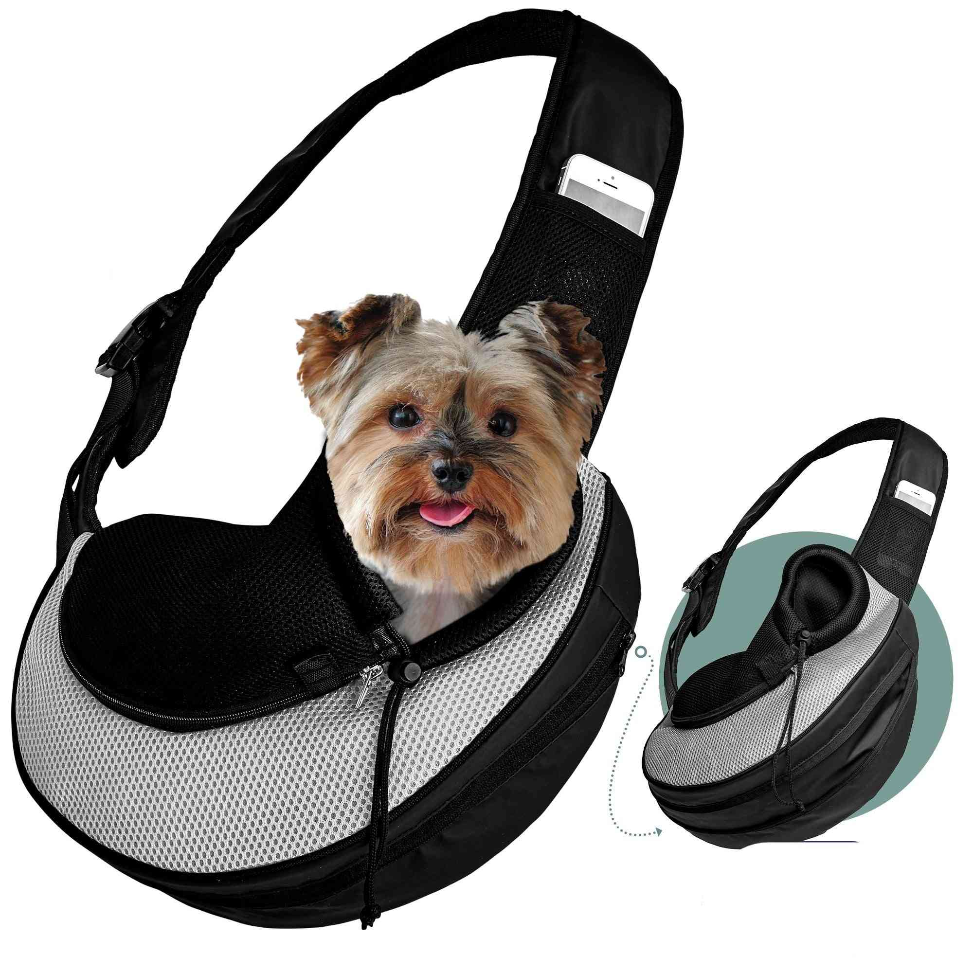 Expandable 2-in-1 Pet Carrier Sling Bag