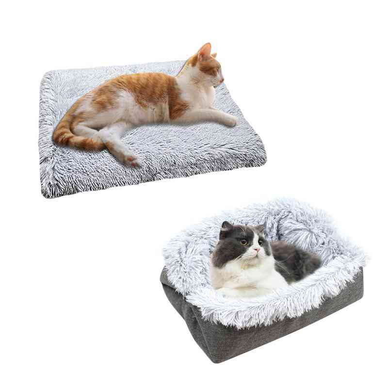 Plush Cat Bed Cat Mat Litter Plush Two-in-one Winter Warm Dog House
