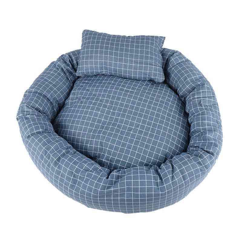 Round Fabric Pet Bed