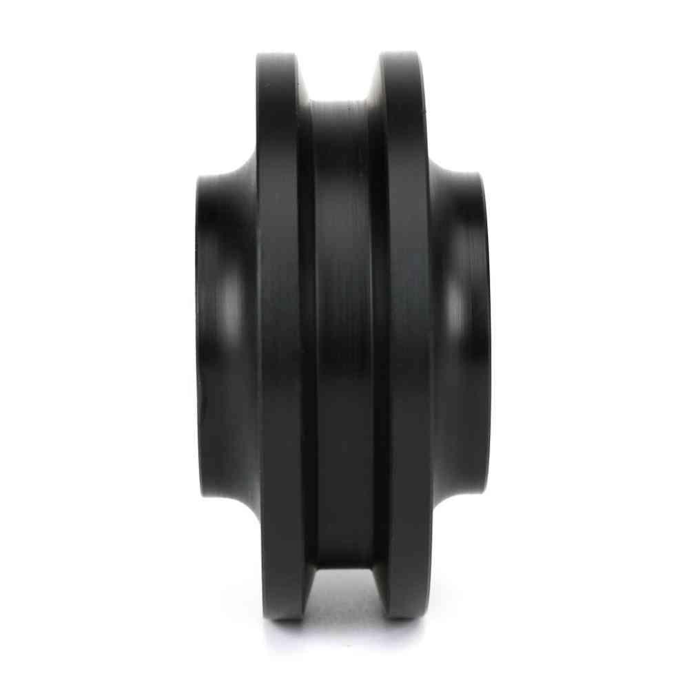 4pc Replacement Sliding Barn Door Wheel Closet Hardware Roller Window Pulley (black)