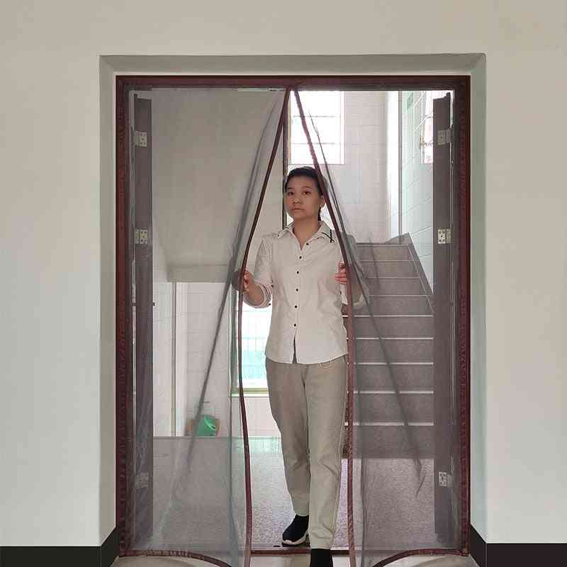 Strong Magnetic Door Curtain Encryption Invisible Anti- Mosquito Mesh Net